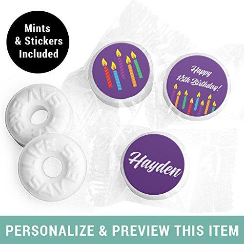 (Birthday Mints Personalized LifeSavers Mints - Purple (300)