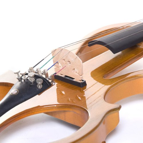 Cecilio 4/4CEVN-1Y Solid Wood Yellow Maple Metallic Electric/Silent Violin with Ebony Fittings in Style 1 (Full Size)