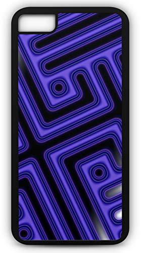 (iPhone 8 Plus 8+ Case Fractal Ornament Wave Motion Light Reflection Customizable by TYD Designs in Black Plastic Black Rubber Tough Case)