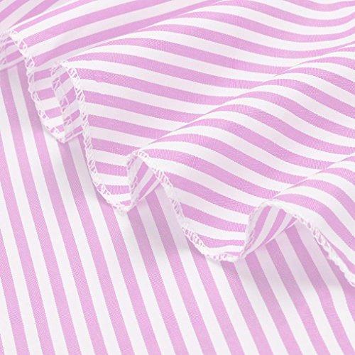 Tops Spalla Moda Con A Asimmetrico Righe Camicia Donna Crop Maglietta Volant Longra Maglie T Bluse Pizzo Manica Rosa Raglan Superiore Casuale Parte Della Camicetta shirt Corta ZnPqaPEBx