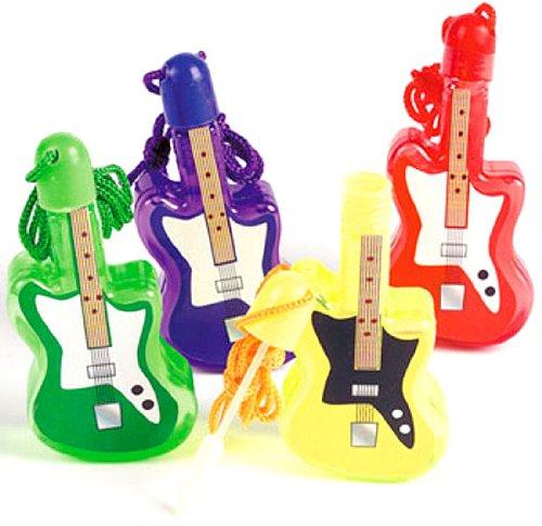 Guitar Bubble Bottle Necklaces (12 pc)
