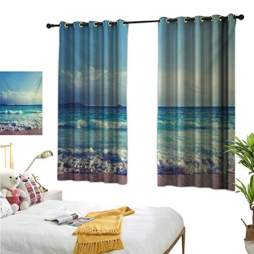 (Luckyee Decorative Curtains for Living Room,Tropical Island,55