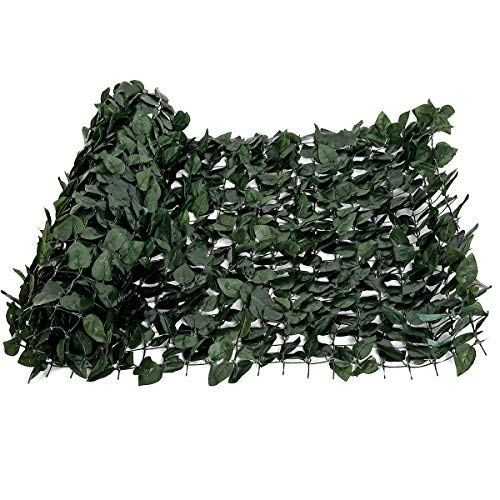 FASHION GARDEN Faux Ivy Privacy Fence Screen Artificial Hedge Fencing Outdoor Decor 59118 INCH Hard Mesh Backing ()