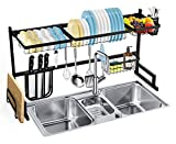 SOLEDI Over Sink Dish Rack Stainless Steel Dish Drying Rack Sturdy and...