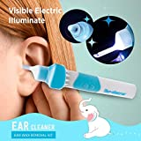 Ear Wax Removal Kit, Electric Earwax Removal Tools, Ear Cleaner, Ear Wax Vacuum Easy Earwax Remover Soft Prevent Ear-Pick Clean Tools Set, Safe and Comfortable