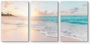 "SIGNFORD 3 Piece Canvas Wall Art for Living Room Bedroom Home Artwork Paintings Romantic Beach Ready to Hang - 16""x24"" x 3 Panels"