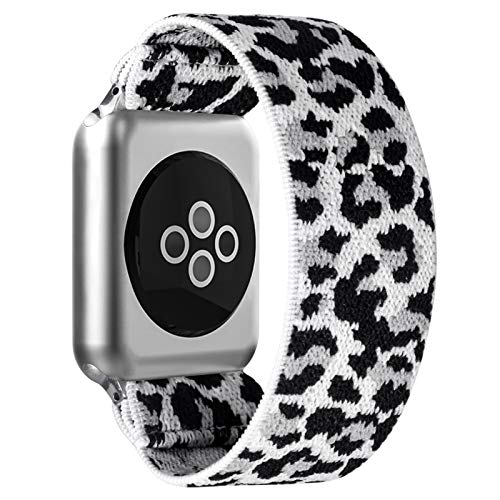 BMBEAR Stretchy Strap Loop Compatible with Apple Watch Band 38mm 40mm 42mm 44mm iWatch Series 6/5/4/3/2/1