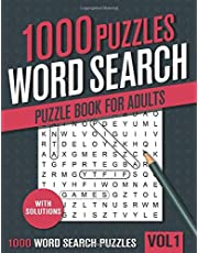 1000 Word Search Puzzle Book for Adults: Big Puzzlebook with Word Find Puzzles for Seniors, Adults and all other Puzzle Fans