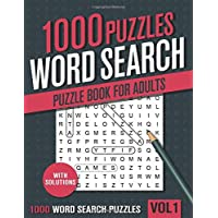 1000 Word Search Puzzle Book for Adults: Big Puzzlebook with Word Find Puzzles for Seniors, Adults and all other Puzzle…