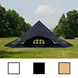 CLP Star Tent/Event Shelter with sidewalls, diameter of 14 m, covered surface approx. 40 m², choose from up to 3 colours black