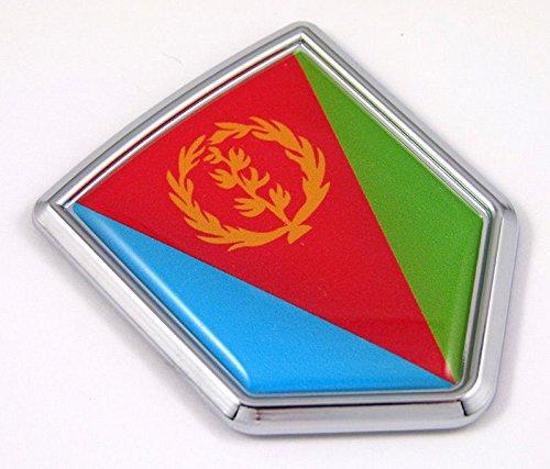 (Eritrea Eritrean flag Chrome Emblem Car Decal Sticker Bike crest)