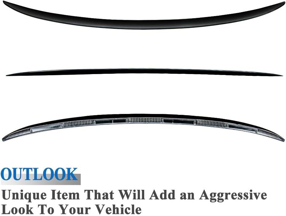 AeroBon Vorlackierter schwarzer M3 Style Kofferraum ABS Spoiler Hecklippe Kofferraumfl/ügel Kompatibel mit 06-13 E92 3er /& M3