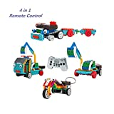 MyNice 4 in 1 Remote Control Building Kits Kids DIY Toy with the Wireless Remote(127 PCS)