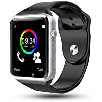 Bluetooth Smart Watch, Leegoal HD Touch Screen Smart Wrist Watch Smartwatch Phone with SIM Card Slot Camera Pedometer Sport Tracker for IOS iPhone Android Samsung LG Smartphones for Men Women Kids (Black)