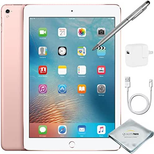Apple iPad Pro 9.7 Inch Wi-Fi 128GB Rose Gold + Quality Photo Extras (Latest Apple Tablet) 2016 Model …
