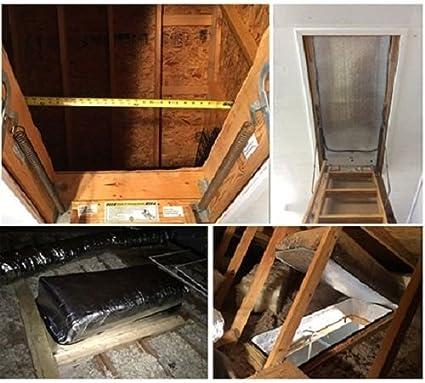 Nasatech Reflective Foam Pull Down Stair Ladder Attic Access Cover  (25u0026quot; X 54u0026quot;