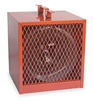Dayton 10-3/4 x 10-3/4 x 14 Fan Forced Electric Space Heater, Red, 208/240VAC