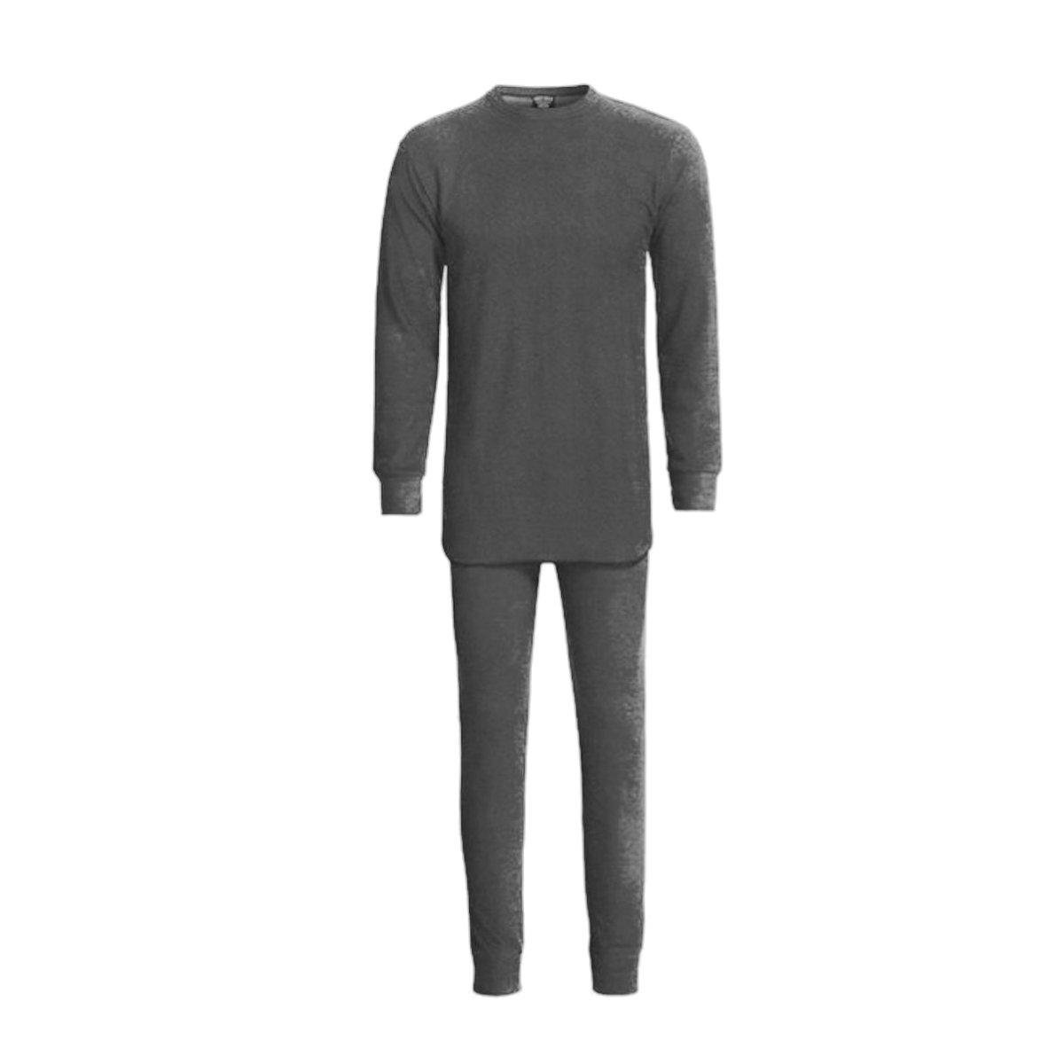 Grit Iron Mens 2 Piece Thermal Set, Gray, Large by Grit Iron