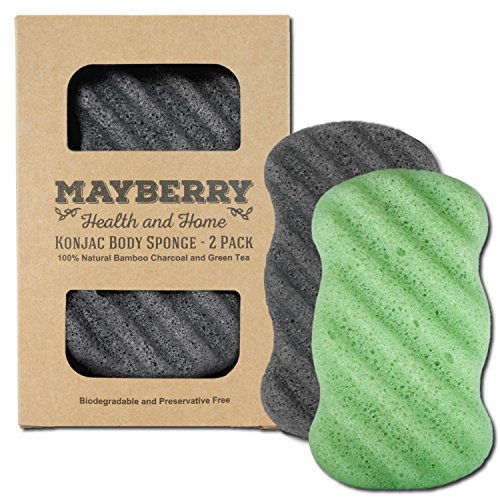 konjac-sponge-with-bamboo-charcoal-and-green-tea-2-pack-100-natural-charcoal-and-green-tea-body-spon