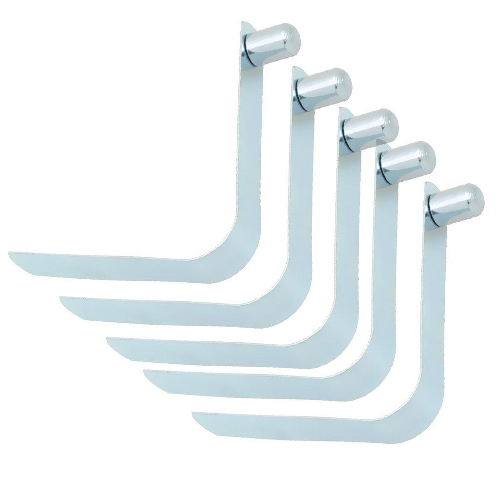 Sharplace 5 x Kayak Paddle Push clip a Scatto Acciaio Argento Utilizzato Tubo Tipo Singolo Preno Solido Quadrato Rotondo Per Disegno Telescopico - 9MM x 12mm
