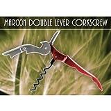 Cheap Maroon Double Lever Corkscrew