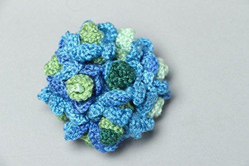 Crochet Flower Brooch - 7