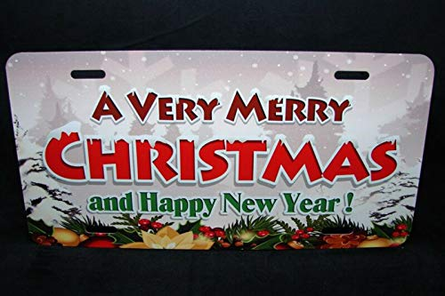 Merry Christmas Novelty License Plate New Year Seasonal Spiritual Happy Holidays Auto Car Novelty Accessories License Plate Art
