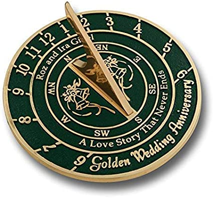My Dear Happy Anniversary Sundial Compass Gift for Him,Gift for a Couple W// Case