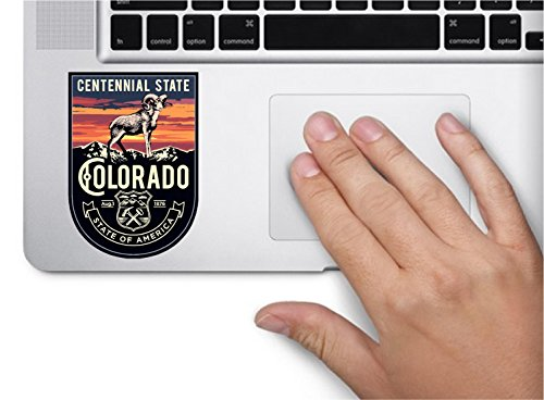 State animal Colorado night 3.5x2.5 inches color sticker animal state decal die cut vinyl - Made and Shipped in USA