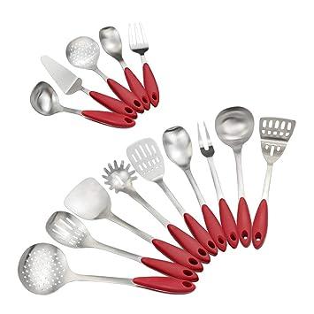 Ordate - Juego de utensilios de cocina (acero inoxidable ...