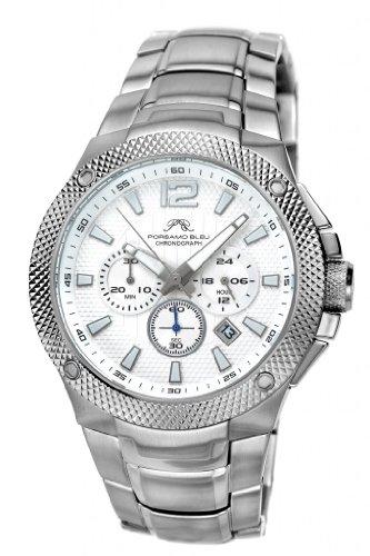 Porsamo Bleu Pierre Stainless Steel Silver Tone Men's Watch 251APIS