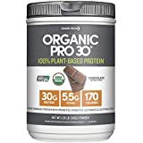 Designer Protein Organic Pro 30, 100% Plant-Based Organic Natural Performance Protein, Chocolate, 1.29lb
