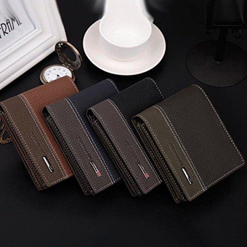 Hemlock Men Wallets, Men's Bifold Wallet Card Holder Wallet Purse (Black)