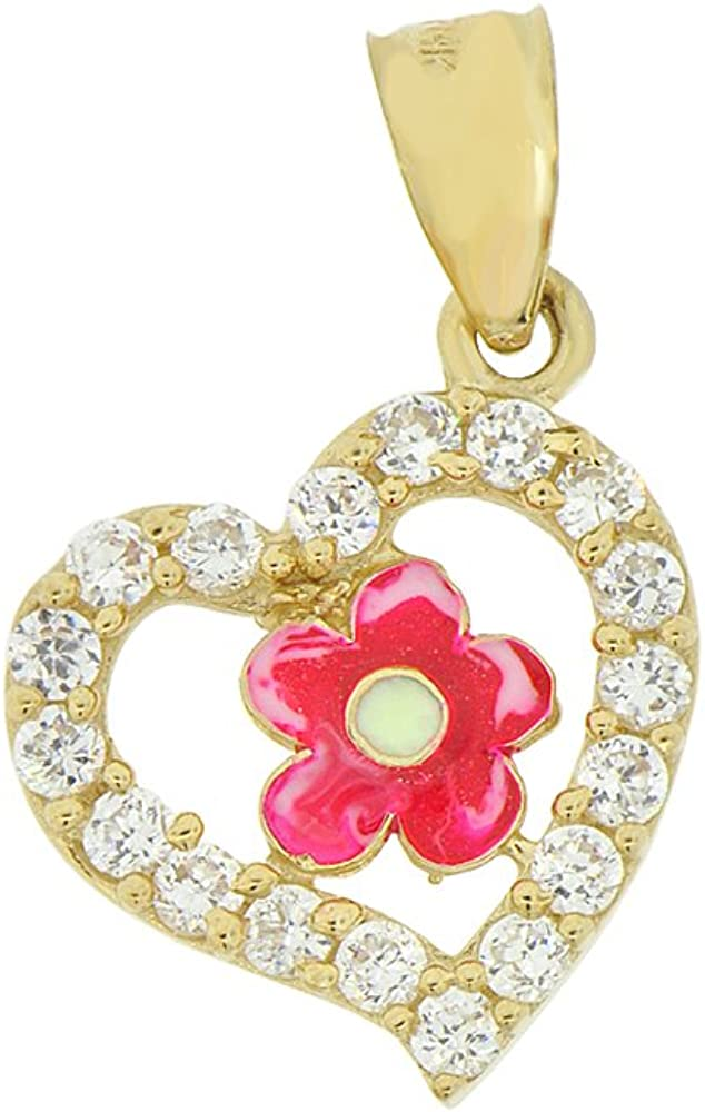 Bonyak Jewelry 18 Inch Hamilton Gold Plated Necklace w// 6mm Rose Pink October Birth Month Stone Beads and Cancer Awareness Charm