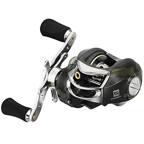 Z ZANMAX Baitcasting Fishing Reel, Stainless Steel Bearings 7.0:1 Gear Ratio, Super Drag, Magnetic Tuned Dual Brakes, Saltwater Freshwater Reel for Bass, Crappies, Perch, Trout, Walleyes