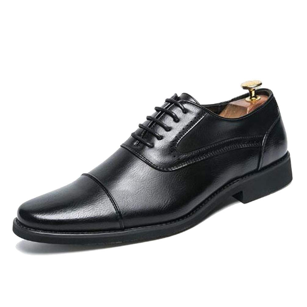 Phil Betty Men Dress Shoes Lace Up Fashion Classical Flats Oxford Shoes Brown Black