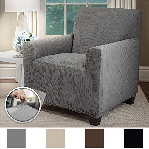 Sofa Shield Original Fitted 1 Piece Chair Slipcover, Soft Stretch, Seat Width Up to 23