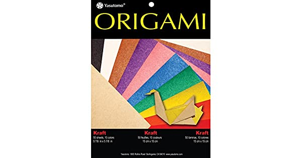 Amazon.com: Yasutomo Fold Ems sólido de papel Origami (50 ...