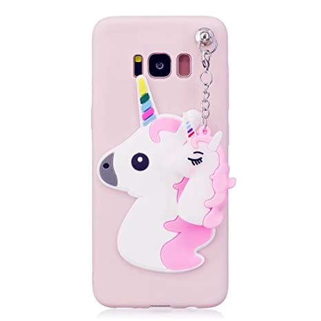 Funda Galaxy S8 Plus unicornio,Galaxy S8 Plus Carcasa Silicona Gel MUTOUREN Case Ultra Delgado