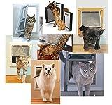 ASIBT Cat Door 4 Ways Locking Flap Pet Hole for