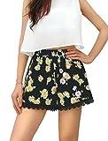 #7: Allegra K Women's allover Printed Lace Trim Elastic Waist Summer Shorts