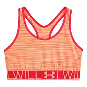 Under Armour Women's Armour Mid Printed Sports Bra X-Small Afterglow