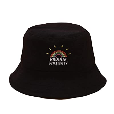 YunZyun Bucket Hats Unisex Wide Brim Outdoor Cap Hiking Beach Sports, Fashion Women Rainbow Print Canvas Foldable Outdoors Bucket Hat Sun Hat Cap, Bucket Hats Outdoor Cap: Sports & Outdoors