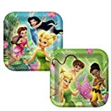 Disney Fairies Square Dinner Plates Assorted