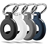 BLOCE Case for AirTag 2021, 4Pcs Silicone Protective Case for AirTag Key Finder, Protective Cover with Keychain,Tracker Holde