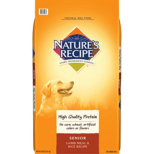 Cheap Nature's Recipe Senior Dog Food, Lamb Meal & Rice Recipe, 30-Pound