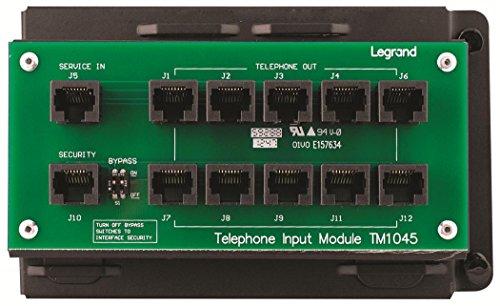 ON-Q Telecom - Modules 4x10 RJ45 Telecom Module with RJ31X (TM1045)