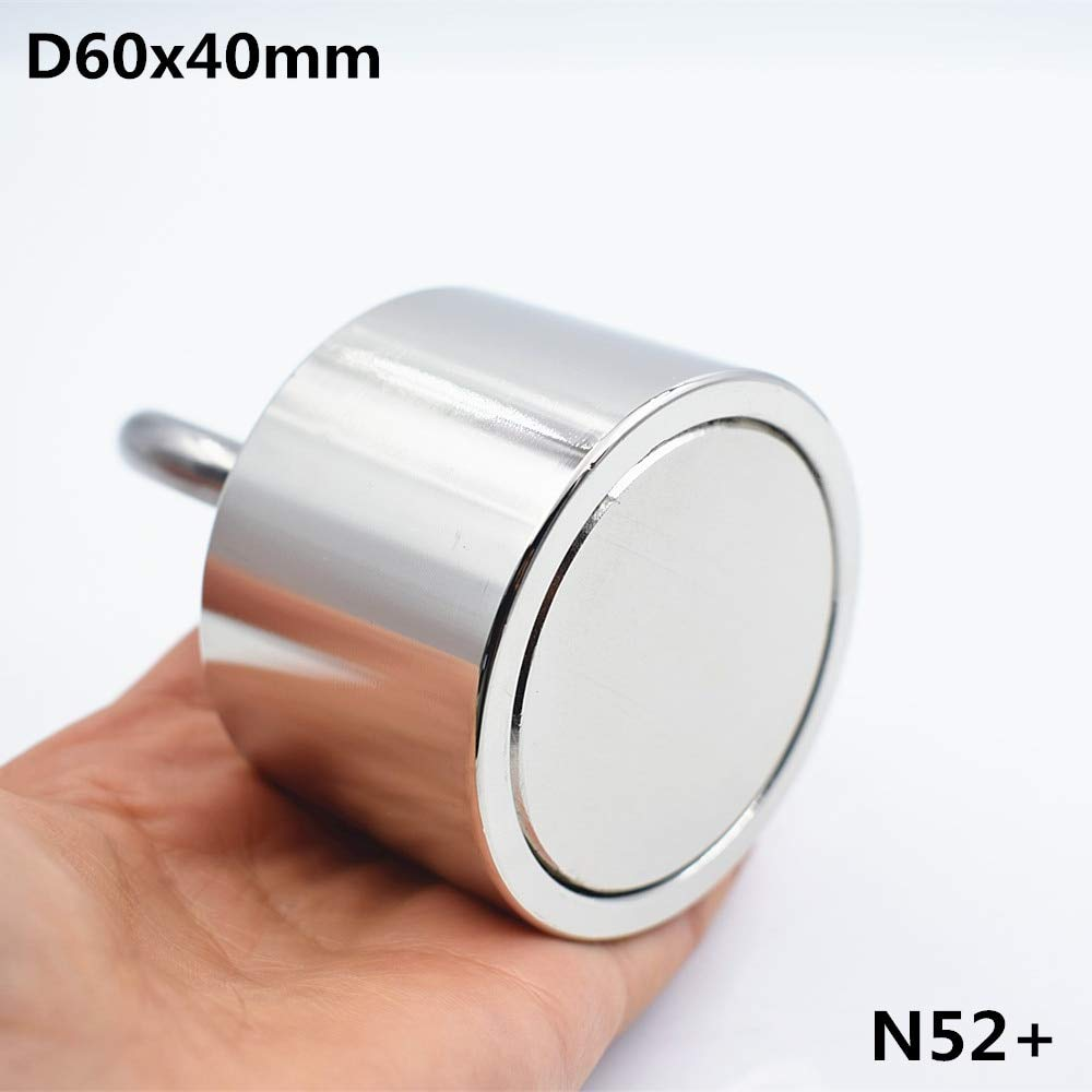 Neodymium magnet N52 D60x40 Super strong round magnet 250kg Rare Earth 60*40mm strongest permanent powerful magnetic steel cup
