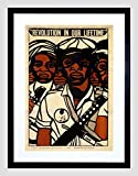 POLITICAL CIVIL RIGHTS BLACK PANTHER PARTY AFRICAN FRAMED ART PRINT B12X10065