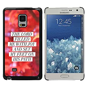 Paccase / SLIM PC / Aliminium Casa Carcasa Funda Case Cover para - BIBLE The Lord Filled Me With Joy - Samsung Galaxy Mega 5.8 9150 9152